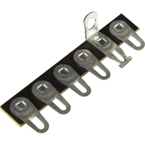 Terminal Strip - 6 Lug, 2nd Lug Common, Horizontal, package of 5