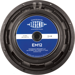 "Speaker - Eminence®, 12"", Legend EM12, 200 watts"