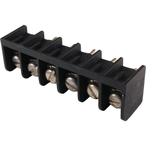 Terminal Board - PC Mount, Tri-Barrier, 6 Screw