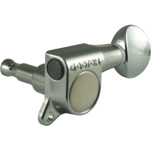 Tuner - Gotoh, Oval Knob, chrome, 3 per side