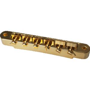 Bridge - Kluson, ABR-1, Wired Raw Brass Saddles, Gold