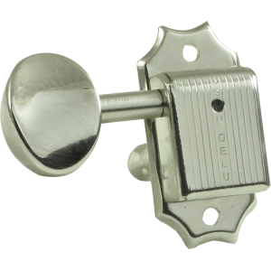 Tuning machine - Kluson Oval, 3 per side, nickel