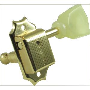 Tuning machine - Kluson, 3 per side, gold/pearl pearloid