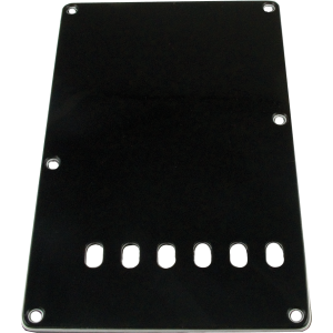 Backplate - Stratocaster 3-ply black
