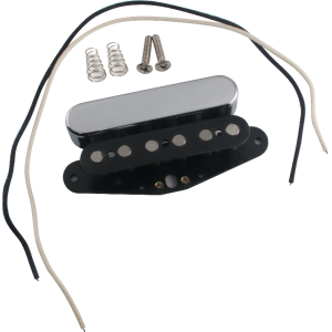 Pickup Parts Set - Tele, Neck, Chrome Cover