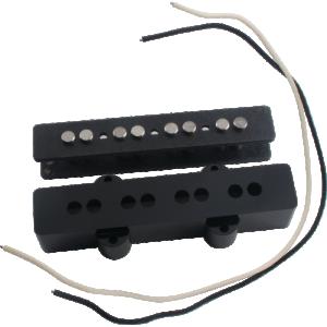 Pickup Kit - J-Bass, Bridge, Black Cover