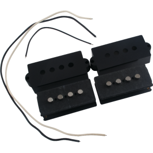 Pickup Parts Set - P-Bass, Black Cover