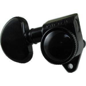 Tuning machine - Grover, Full Roto Locking, 3/Side, 18:1, Blk Chro