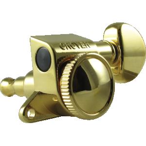 Tuning machine - Grover Mini Rotomatic Roto-Grip locking, 6 in line, gold