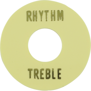 Switchwashers - Rhythm/Treble, Gold Lettering, for Les Paul