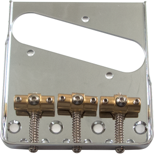 Bridge - Tele, Adjustable Locking Saddles, Chrome