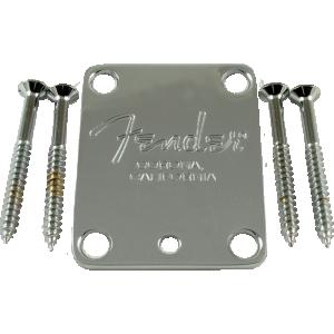 Neck plate, Fender® American Standard guitar, chrome