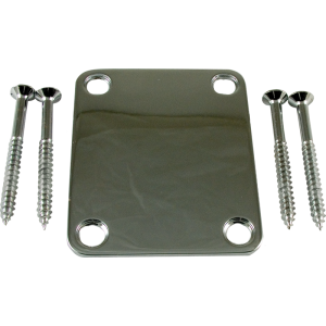 Neck plate, 4-hole chrome
