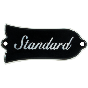 Truss Rod Cover - Gibson Les Paul Standard, Black w/ Nickel