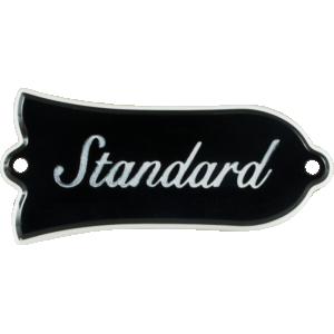 Truss Rod Cover - Gibson Les Paul Standard, Black w/ Nickel