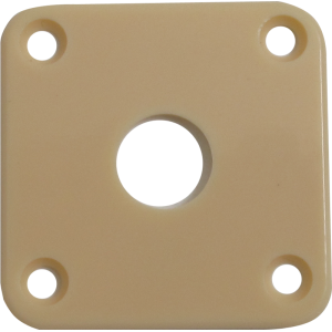 Jack plate - Cream Plastic, Fits Les Paul