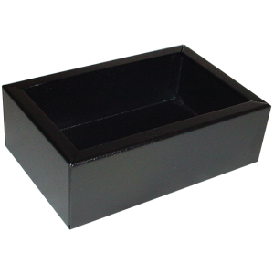 "Chassis Box - Hammond, Steel, 6"" x 4"" x 2"", Black"