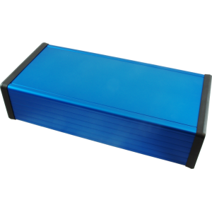 "Enclosure - Hammond, Extruded Aluminum, Blue, 8.66"" x4.06"" x2.09"""