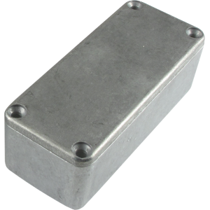 "Box - Hammond, Unpainted Aluminum, 3.64"" x 1.52"" x 1.06"" Depth"