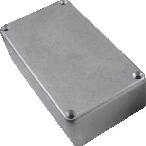"Chassis Box - Hammond, Unpainted Aluminum, 4.37"" x 2.37"" x 1.22"""
