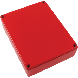Chassis Box, Die-Cast Aluminum, Red