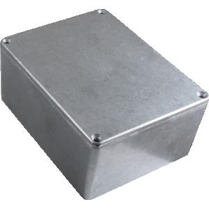 "Chassis Box - Hammond, Unpainted Aluminum, 4.72"" x 3.70"" x 2.07"""