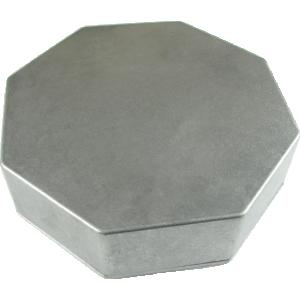 Box, Hammond, Unpainted Aluminum, Octagon,