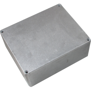 "Chassis Box - Hammond, Unpainted Aluminum, 5.3"" x 4.4"" x 2.2"""
