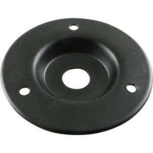 "Jack plate, black metal, single ¼"", 2"" outside diameter"