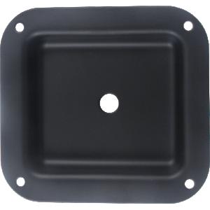 "Jack Plate - 1-Hole, Metal, Black, 4.02"" x 4.40"""