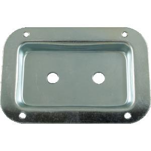 "Jack Plate - Metal. Zinc, 2 holes, 3.5"" x 5.13"""