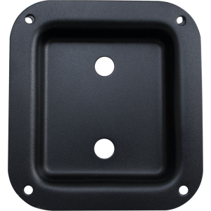 Jack Plate - Metal, Black, 2 holes