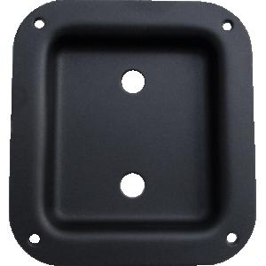 Jack Plate - Metal, Black Textured, 2 holes, with air gasket