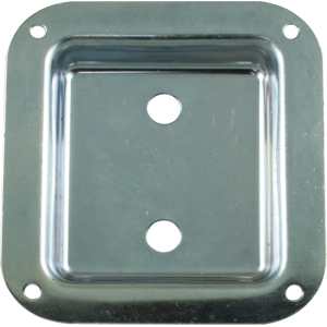 Jack Plate - Metal, Zinc, 2 holes