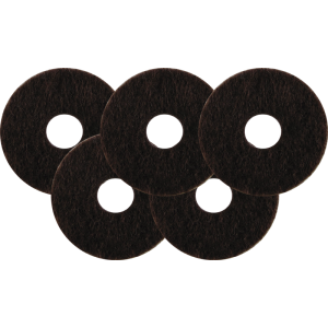 "Washer - Felt, .875"" Outside Diameter x .25"" Inside Diameter, pkg of 5"