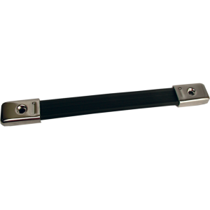 Amp handle, black with silver caps