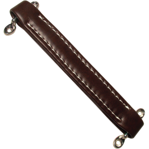 Amp handle, brown vintage with white stitching