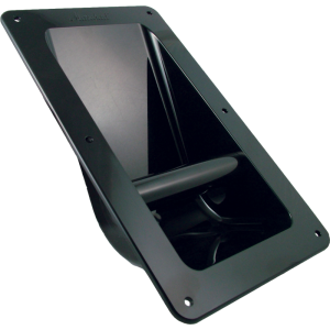 Handle - Marshall, Black Plastic, Recessed for Cabinet