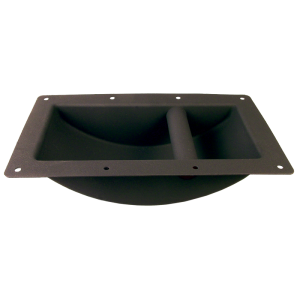 Handle - Black Metal, Large, Recessed for Cabinet