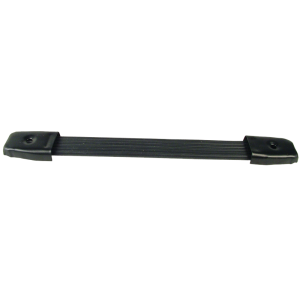 "Handle - Black Plastic, Black Caps, Strap, adjustable 8"" - 8.75"""