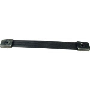 "Handle - Black Plastic, black caps, Strap, adjusts 6.65"" - 7.50"""