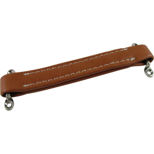 Amp handle, light brown with white stitching