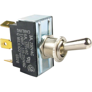 Switch - Carling, SPDT, 3 Position Center Off Toggle, Ground