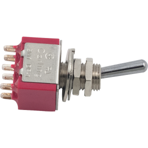 Switch - Carling, DPDT, Mini Toggle, 2 Positions