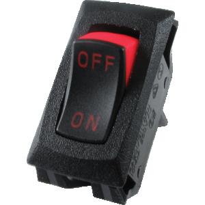 Switch - Carling, SPST, Mini Rocker, 16A, 125VAC, (On-Off)