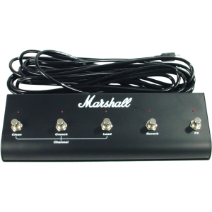 Footswitch (PEDL00021), Original Marshall, Five Button with LED (Clean, Crunch, Lead, Reverb, FX)