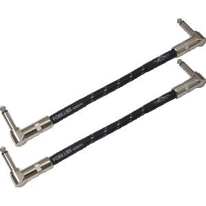 """Cable - Fender, Custom Shop, 6"""", Instrument, Black Tweed, Pkg/2"""