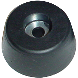 "Foot - Rubber, 0.75"" x 1.625"" Top/1.25"" Bottom, Tapered"