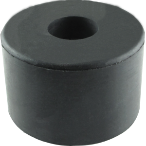 "Foot - Rubber, 1-1/2"" D x 1"" H with Metal Washer"