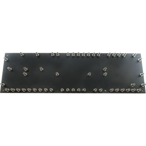 Turret Board - Black, 3mm, Loaded with 52 Turrets, 258mm x 76mm